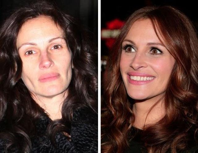 """Джулия Робертс. """"Красотка"""" без косметики выглядит вот так."""