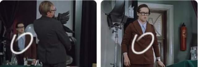Склейка (смена плана). И уже расстегнутый пиджак героини Алисы Фрейндлих застегивается на все пуговицы.