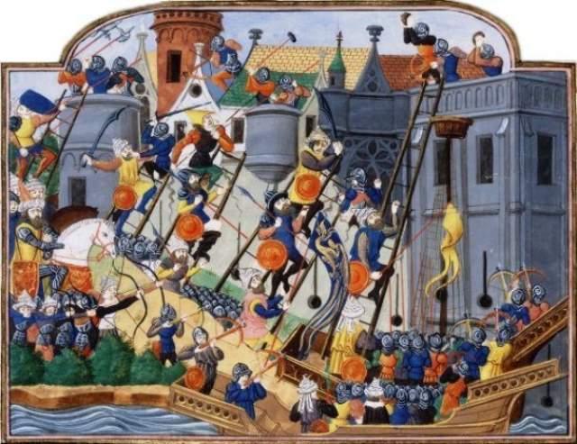 В Константинополе оставили открытыми ворота С середины V века до начала Xlll века Константинополь был самым крупным и самым богатым городом в Европе. Он пережил множество нападений и осад, которые предпринимали варвары, арабы, болгары и русские.
