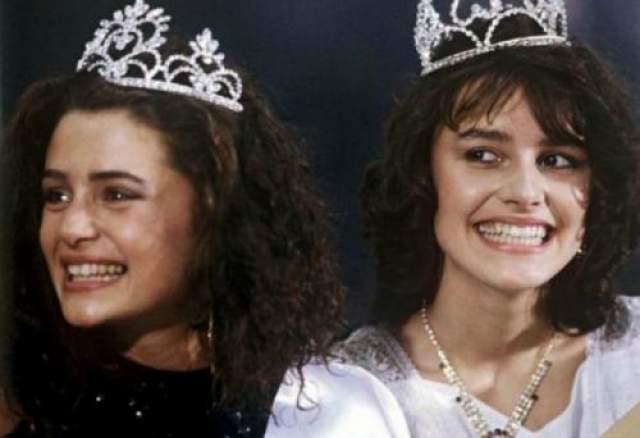 Победительницы конкурса красоты Маша Калинина и Оксана Фанера, 1988 год