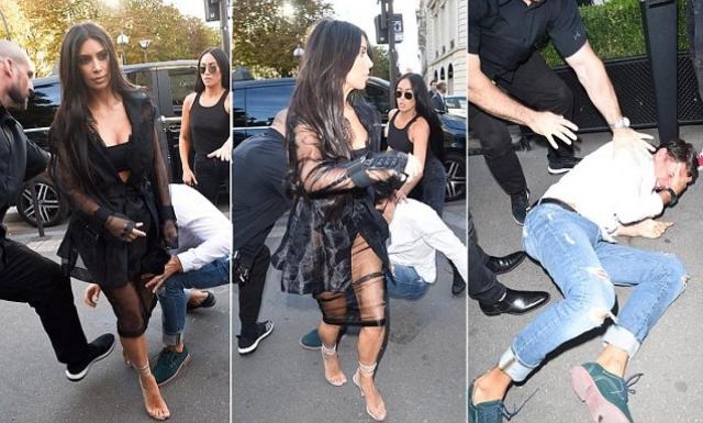 В конце сентября 2014 года супруги Уэст-Кардашьян решили посетить один из показов Недели высокой моды в Париже. Там к Ким подобрался скандальный украинский журналист Виталий Сердюк.