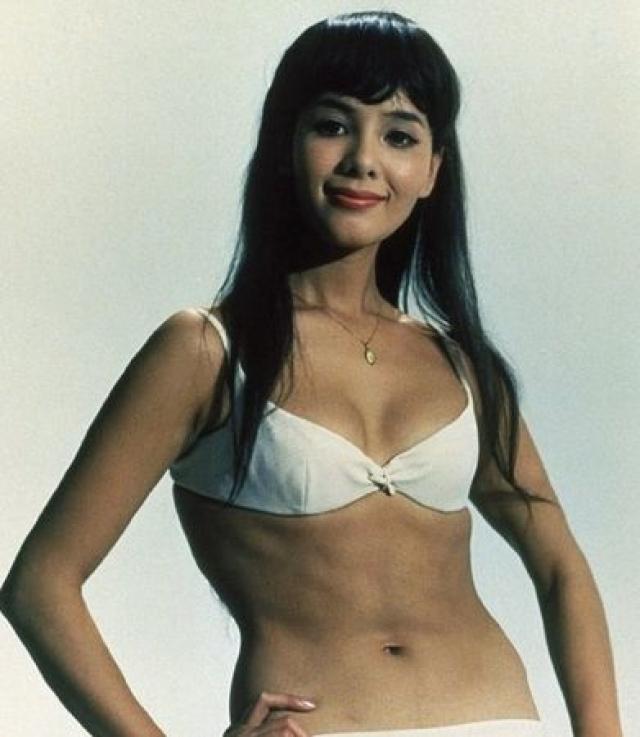 На этот раз он предстает перед зрителем в компании японской актрисы Мие Хама .