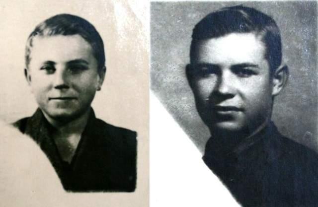Шура Кобер (16 лет) и Витя Хоменко (16 лет). Хоменко в 1941 году работал в немецкой столовой города Николаева учеником. Знание языка помогло ему завоевать доверие врага. И вот спустя год юные пионеры получили задание: перейти линию фронта и передать в Москву из Николаева секретные документы.