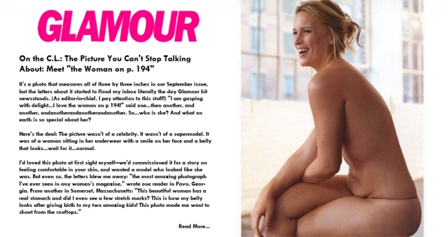 Лиззи Миллер. Несколько лет назад неотретушированные фотографии модели из съемки американского Glamour взорвали Интернет.