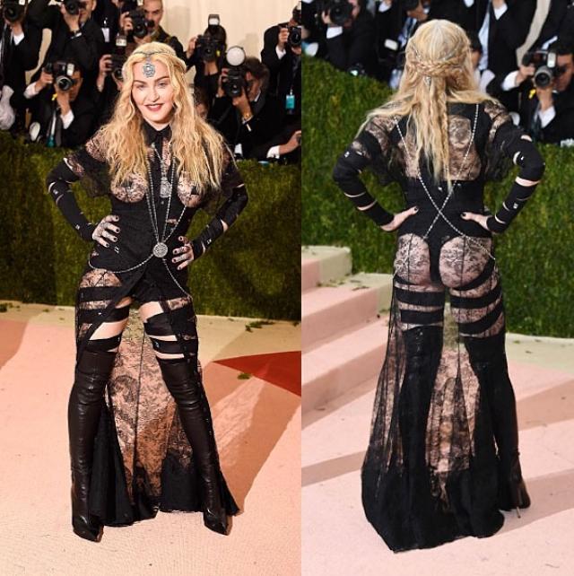 Мадонна. Поп-дива любит шокировать публику, но, вероятно, можно делать это в более стильной манере.