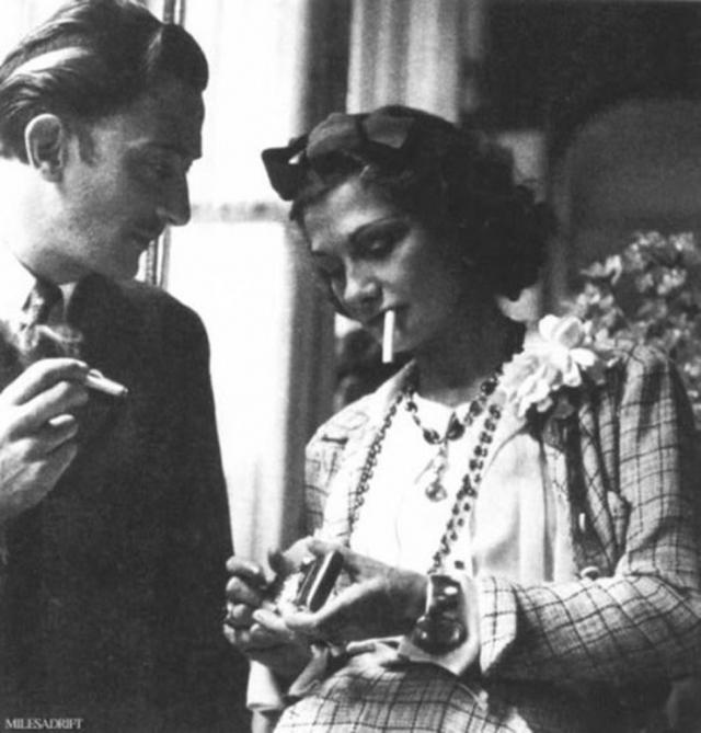 Сальвадор Дали и Коко Шанель.