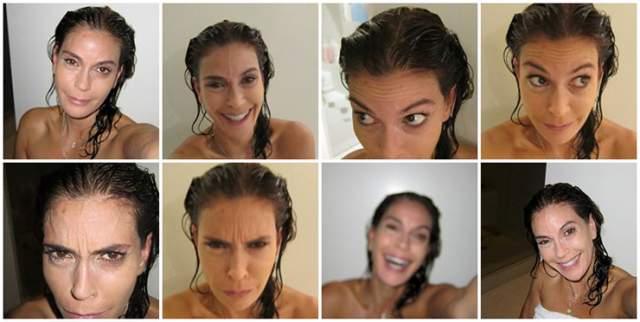 """Актриса мгновенно выложила в ответ свои фото после душа, подписав: """"Это мое лицо. Без имплантатов, операций и ботокса. Мне не важно, что вы скажете. Я сфотографировала себя, чтобы показать, что женщине не нужно бояться показать свою натуральную красоту""""."""