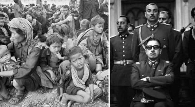 Августе Пиночет Трудно описать все те жесткости, которые творились на протяжении многих лет в Чили именем Пиночета, где была установлена военная диктатура, а общественный контроль осуществлялся с помощью пыток и казней.