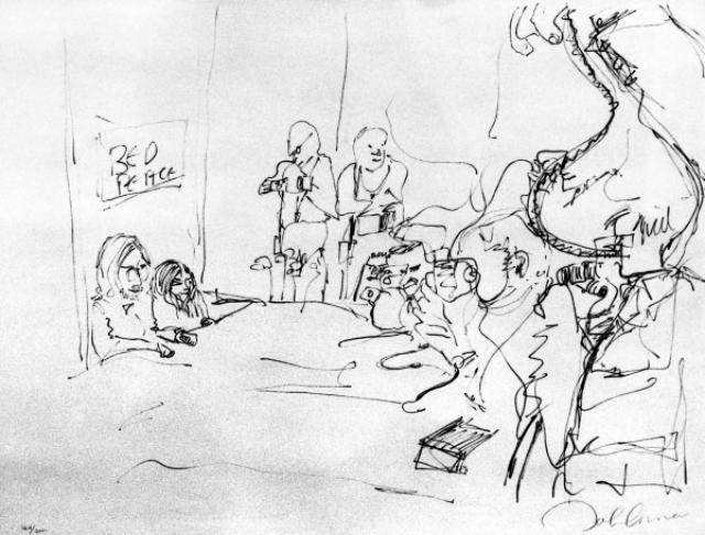 Несколько лет он проучился в художественной школе в Ливерпуле. Рисовал быстро, как правило, простым карандашом, да и просто на любом подвернувшемся под руку клочке бумаги, даже на магазинных чеках.