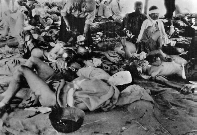 """По воспоминаниям очевидцев, раненые оставались в полном сознании до самой смерти, а многие из них продолжали умолять """"убейте меня поскорее""""."""
