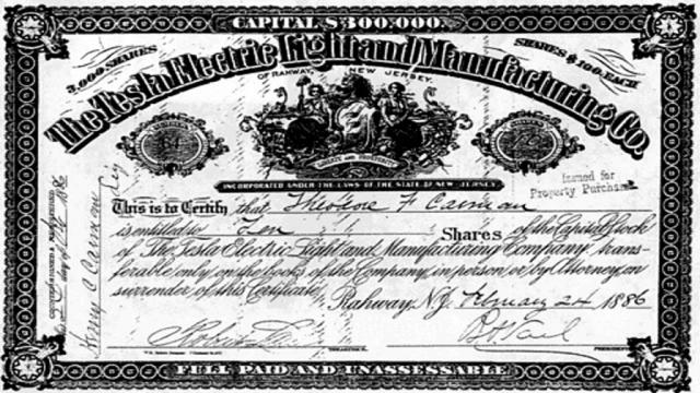 """В 1887 году Никола основал компанию """"Тесла Электрик Лайт Компани"""", а через год миллионер Джордж Вестингхаус услышал доклад Теслы в Американском институте инженеров-электриков и сразу же заплатил ему $60000 за патенты на систему передачи и распределения многофазных токов."""