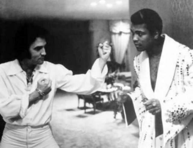 Элвис Пресли и Мухаммед Али