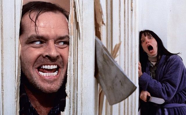 """В фильме """"Сияние"""" сцена с топором, когда главный герой в исполнении Джека Николсона в погоне за своей женой разрубает дверь, неоднократно была признана самой страшной за всю историю кино."""