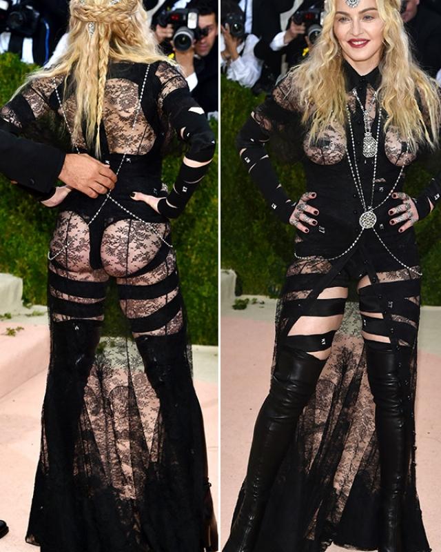 Мадонна. На заре карьеры певица шокировала всех знаменитым остроконечным бюстгальтером, а сейчас пошла гораздо дальше.