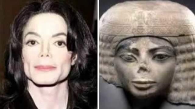 Майкл Джексон и древнеегипетская статуя