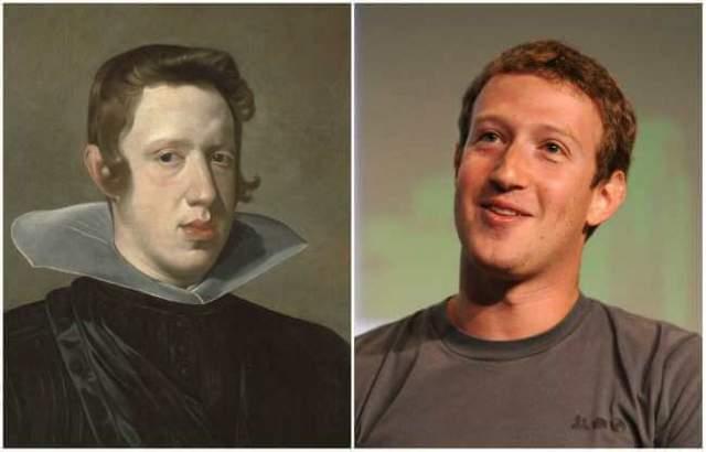 Король Испании Филипп IV и один из основателей социальной сети Facebook Марк Цукерберг