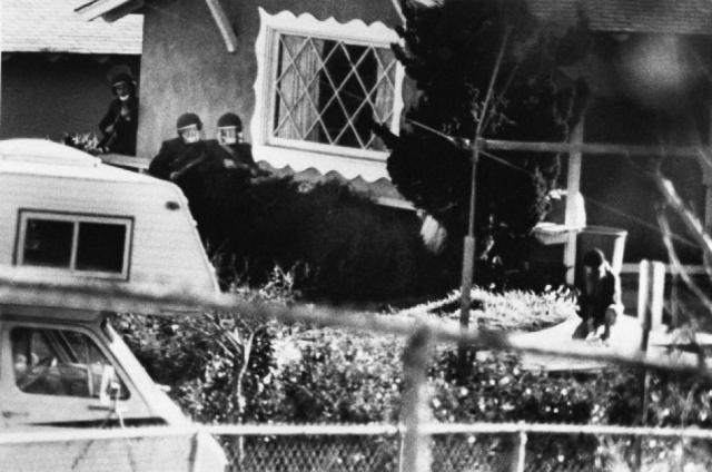 В полдень 17 января 1989 года Перди припарковал свой фургон на стоянке школы имени Кливленда, где когда-то учился сам. Отойдя от машины, Перди поджег ее при помощи коктейля Молотова.