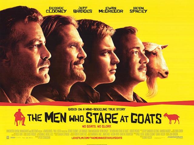 """""""Безумный спецназ"""". Российские прокатчики посчитали, что комедию с названием """"Люди, которые пялятся на коз"""" в прокате не спас бы даже исполнитель главной роли Джордж Клуни."""