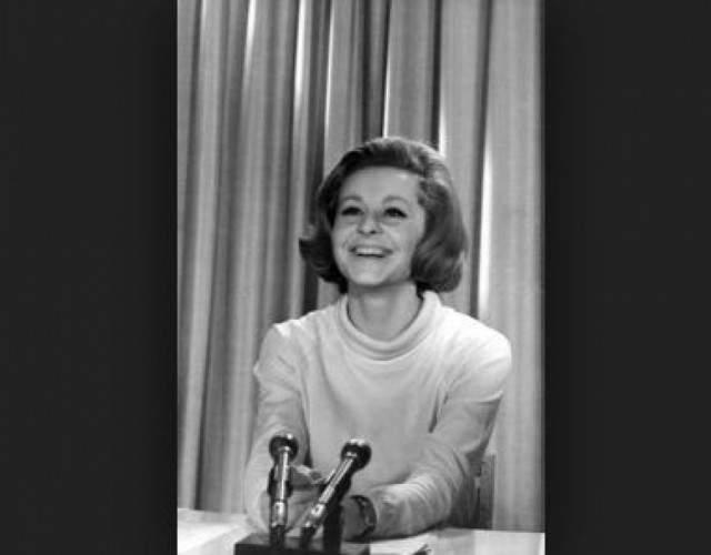 """Ангелина Вовк, 75 лет. Окончила актерский факультет ГИТИСа и """"женщины большего обаяния, чем Лина, в Дикторском отделе не было"""", - говорил о ней журналист Виктор Рохлин."""