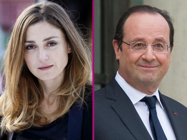 Франсуа Олланд - Жюли Гайе.  В журнале Closer была опубликована скандальная статья о похождениях французского президента.