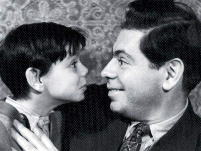 Аркадий Райкин с сыном Костей