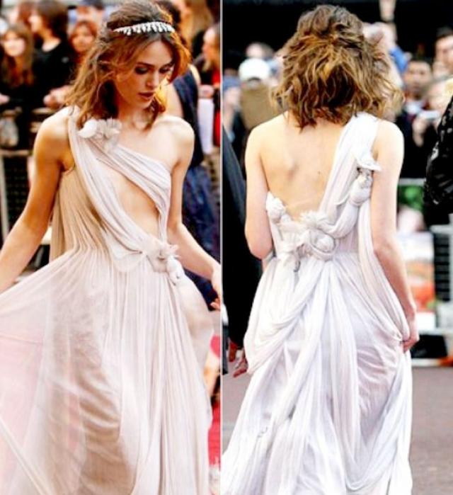 """Кира Найтли на премьере фильма """"Искупление"""" появилась в дерзком, но очень женственном наряде."""