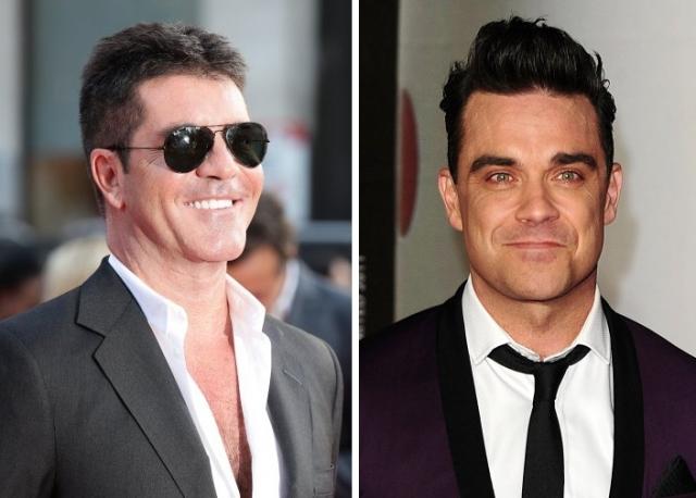 """Робби Уильямс и Саймон Коуэлл. Судья на шоу """"X Factor"""" и британский исполнитель - сводные братья."""