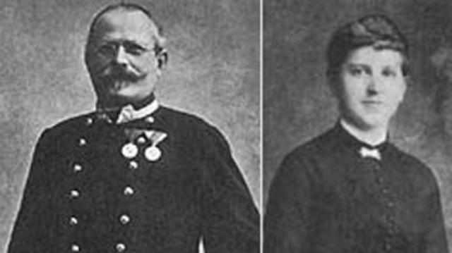 Родители Гитлера. Клара Пельцль в 13 лет устроилась к двоюродному дяде Алоису Гитлеру, который был на 23 года старше нее, домработницей. Позже они стали мужем и женой.