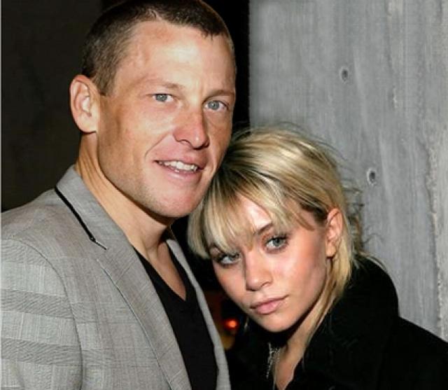 Лэнс Армстронг и Эшли Олсен. Молодая актриса, сделавшая себе имя на подростковых телешоу, и спортсмен в возрасте мало кому показались бы подходящей парой.