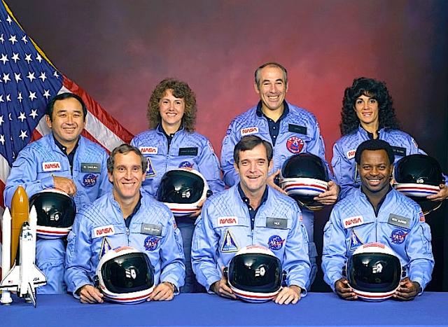 """Экипаж челнока """"Челленджер"""" состоял из семи человек."""