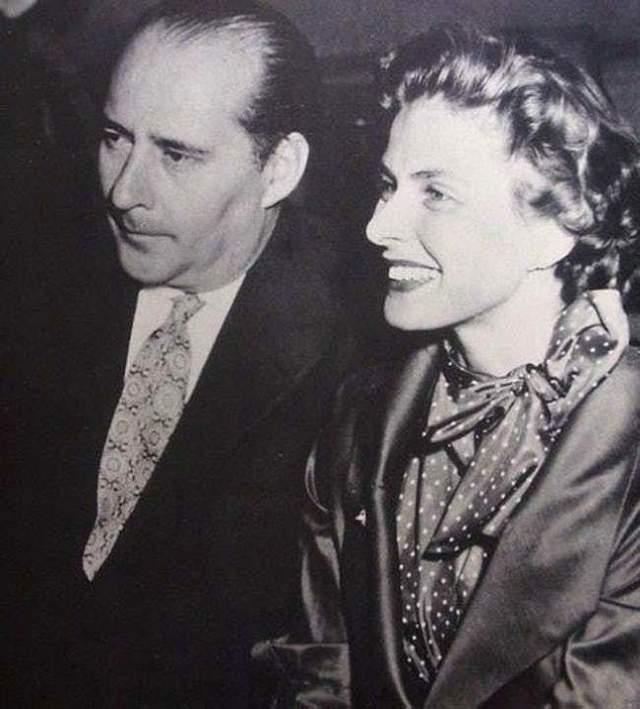 """Ингрид Бергман и Роберто Росселлини Шведская актриса и итальянский режиссер были вовлечены в один из первых крупных скандалов в кинематографе. В 1940-х Ингрид Бергман была одной из самых востребованных актрис в Голливуде, она появилась в таких щитах, как """"Касабланка"""" и """"Дурная слава"""". Оа была замужем за врачом, с которым вместе воспитывала дочь."""