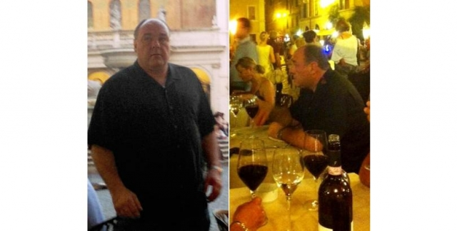 "Джеймс Гандольфини. Звезда ""Клана Сопрано"" скончался от сердечного приступа возрасте 51 года во время отдыха в Риме. На фото последние дни его отпуска."