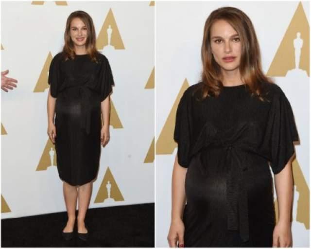 """Икона стиля Натали Портман на церемонию вручения премии """"Оскар"""" не побоялась прийти в платье странного покроя за $30 от Topshop."""