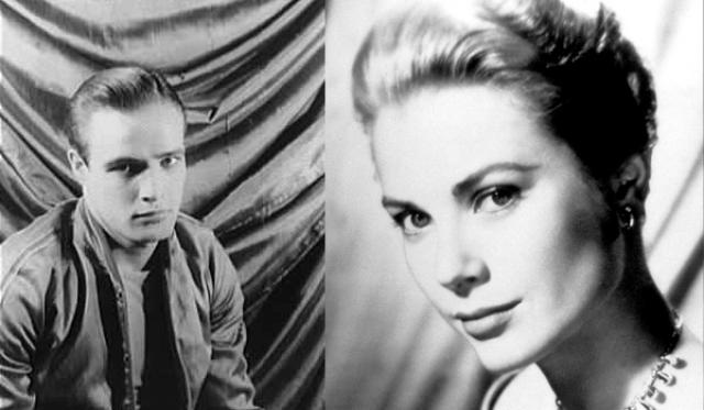 """1955 - Марлон Брандо (""""В порту"""")/Грейс Келли (""""Деревенская девушка"""")"""