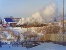 Сгорел дом Ельцина в Свердловской области