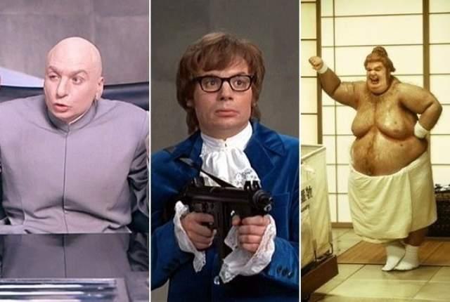 Актер сыграл в картине и главного героя, и его противника доктора Зло, а в сиквелах — Жирного Ублюдка и Голдмембера.
