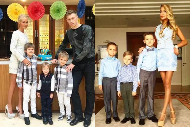 Шикарный праздник супруги устроили спустя 8 лет, уже будучи родителями троих детей. В 2007-м Мария подарила мужу первенца - сына Артема. Спустя два года родился сын Павел, а в 2011 году в немецком Штутгарте Мария родила третьего сына Алексея.