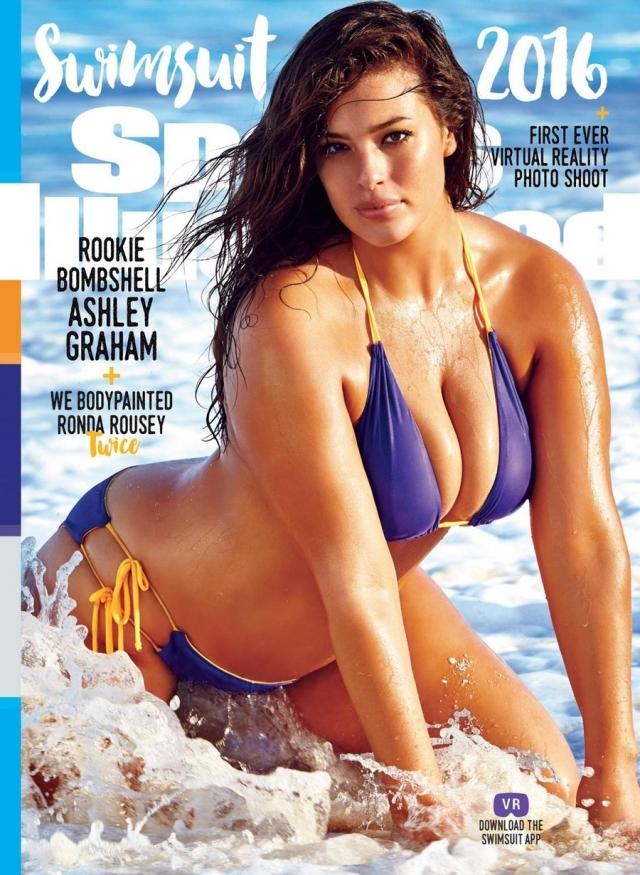 """Эшли Грэхэм. Модель плюс-сайз стала первой дамой """"в теле"""", помещенной на обложку популярного журнала."""