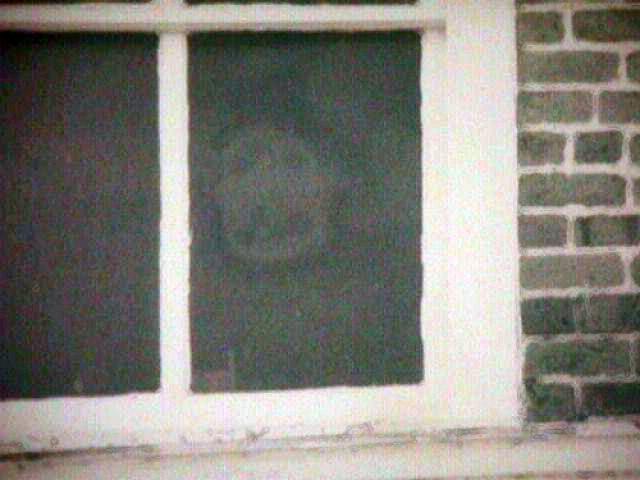 """Фото известно под названием """"Лицо в окне"""". Загадочное лицо смотрит из здания суда в Алабаме. Если верить историям, это лицо бывшего раба по имени Генри Уэллса, в которого ударила молния."""