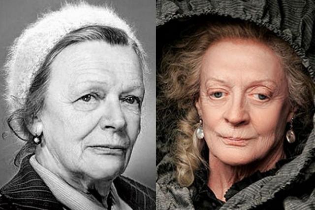 Британская актриса Мэгги Смит многим российским пользователям напоминает Татьяну Пельтцер. Любопытно, что обе актрисы много играли в театре, а к киноуспеху пришли в уже зрелом возрасте.