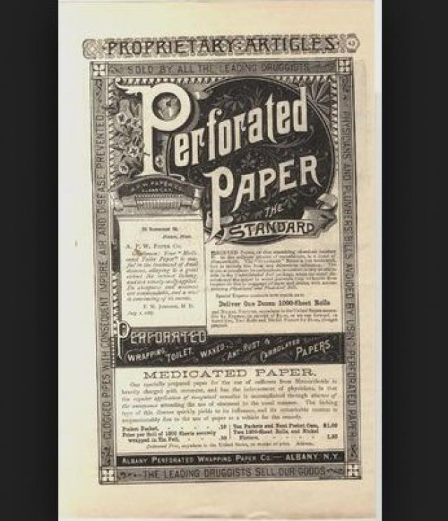 Только в 1857 году ньюйоркцу Джозефу Гайетти пришло в голову нарезать бумагу аккуратными квадратами и паковать в пачки. Он так гордился своим изобретением, что на каждом листочке печатал свое имя.