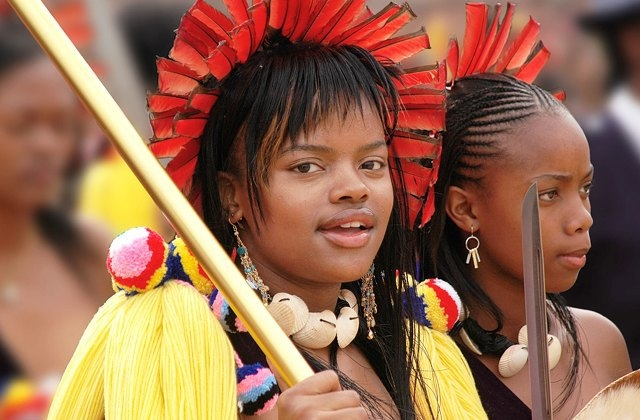 Принцесса Сиханизо Дламини. У короля Свазиленда больше двух десятков детей, но больше всех из них на виду его старшая дочь Сиханизо.