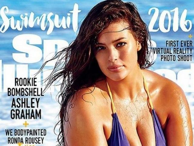 В феврале этого года Эшли также стала первой моделью pluz-size, появившейся на обложке главного спортивного журнала Америки и Канады Sports Illustrated.