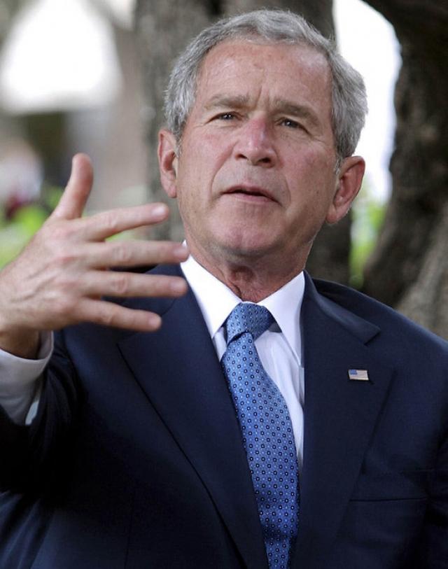 """Джордж Буш-младший: """"У меня есть мнение по всем вопросам. Очень четкое мнение. Правда, иногда я с ним не согласен""""."""