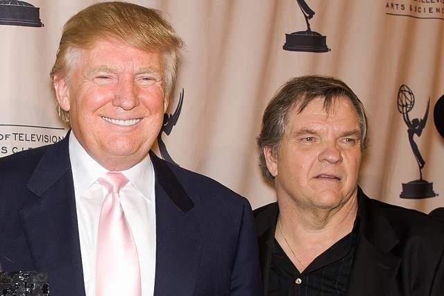Мит Лоаф и Дональд Трамп. Марвин Ли Адей был сверхпопулярен аж в 70-х, но для президента США то, что музыкант ушел в небытие, не повод с ним не сфотографироваться.