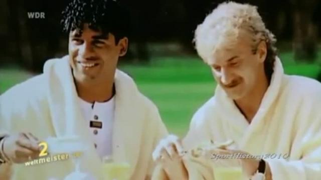 1990. Матч ФРГ - Голландия начался с удаления двух лучших игроков - немца Руди Феллера и голландца Франка Райкарда.
