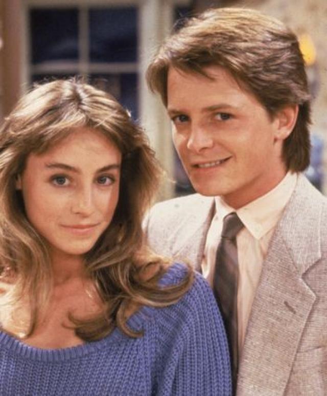 """Майкл Джей Фокс. Актер познакомился со своей спутницей Трейси Поллан на съемках фильма """"Семейные узы"""". Но, как они оба утверждают, тогда не приглянулись друг другу."""