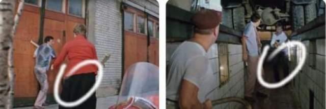 Герой Андрея Миронова мгновенное переодевается, забегая в помещение автомойки?