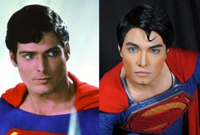 Хеберт Чавез - Супермен. Филиппинский парень перенес более дюжины пластических операций, чтобы стать максимально похожим на легендарного пришельца из комиксов.
