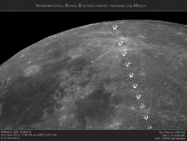Получается, что либо МКС улетела к Луне, либо астрономы сделали фото неизвестного объекта, похожего на земную станцию.